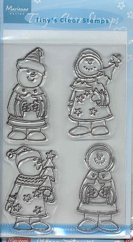 MD: Tiny`s Clear Stamps; Snowmen
