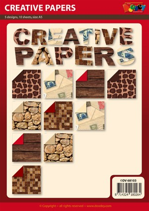 Doodey: Creative Papers; 10 sheets, 5 designs, Size A5
