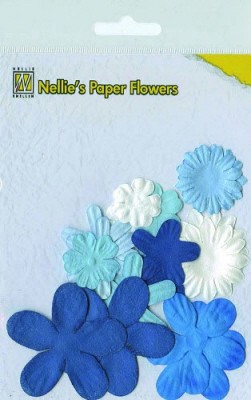 NS: Paper Flowers ca. 18 pcs; Blue