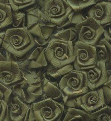 FI: Flowers 15 mm, 24 pcs; Dark Olive