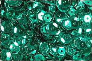 Pailleten: cuvettes 7 mm; 20 gram, GROEN METALLIC