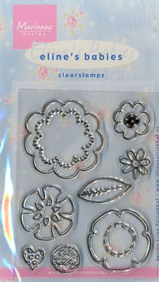 MD: Eline Clear Stamp; Flowers