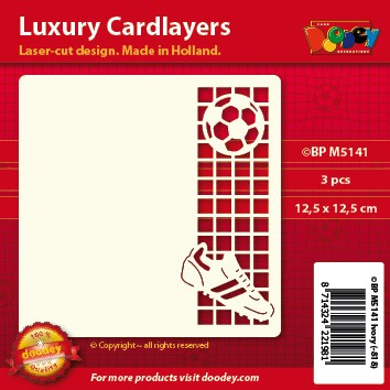 Doodey: Luxury Cardlayers 3 pcs Square: Soccer-Voetbal