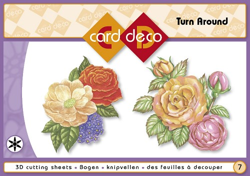 3D boekje- Card Deco Turn around bloemen