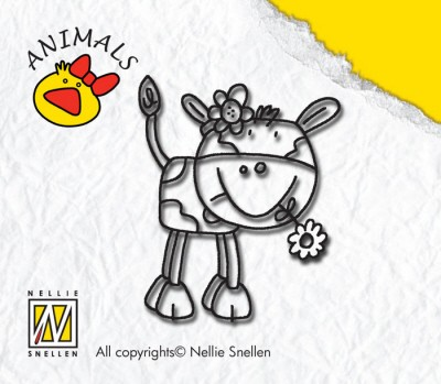 NS: Clearstamp Animal: Cow Girl