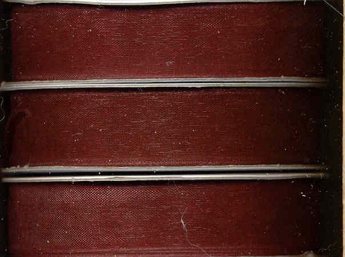 Romak: Organzalint 15 mm x 5 mtr; Dark Red