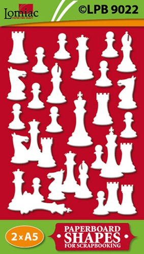 Lomiac: Paperboard shapes; Schaken-Chess