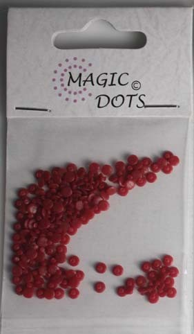 Magic Dots - donkerrood