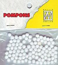 NS: Pompons 3 mm: Wit