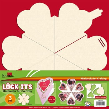 Lock Its: mini scrapbookje; Hart