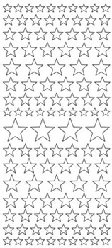 JEJE Glittersticker: Stars; Gold on Red