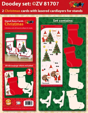 Doodey Stand Easy Cards; Kerstsok