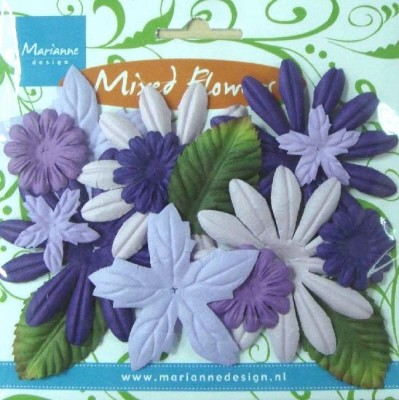 MD: Mixed Flowers; Blue