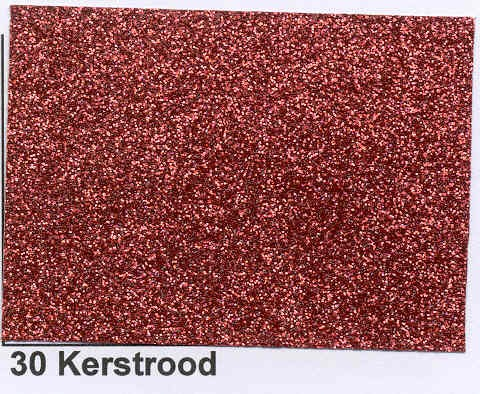 Foliart Glittersticker; Kerstrood