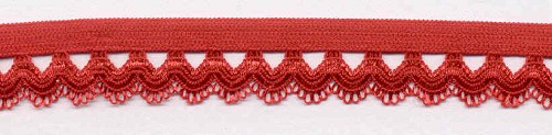 Elastic Lacé Ribbon: Red
