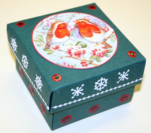 TH: Deco Boxes, Square; RED