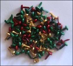 Crafts Too: brads 100 pcs; 3 mm, Christmas