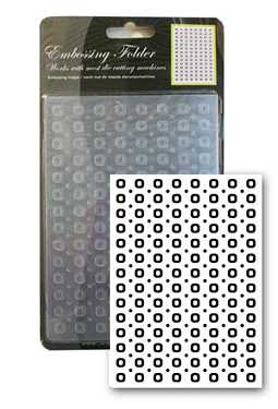 CCC: embossing mal; Square Dots