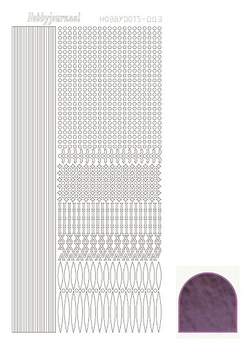 Hobbydots sticker mirror violet