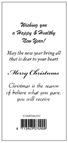 SL: Clear stamp: Text Christmas/New Year