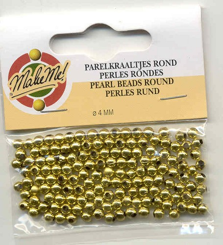 Make Me: parel goud 4 mm