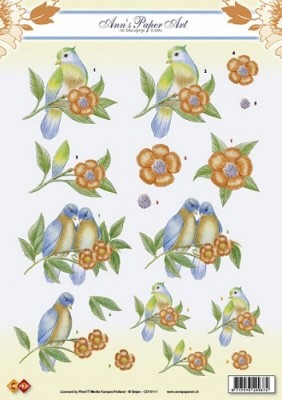Carddeco: vogels-birds