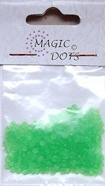 NS: Magic Dots Transparant Green