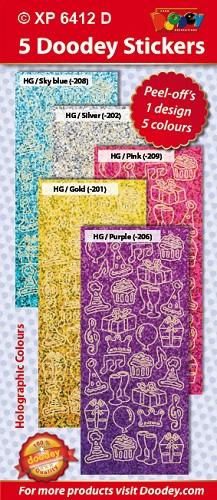 Doodey Sticker Set Xp Verjaardag Birthday Welkom Op De Internet