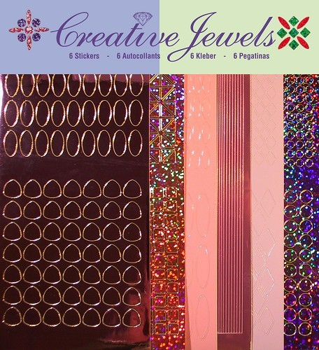 Jeje: Creative Jewels Stickerpakket; Roze tint
