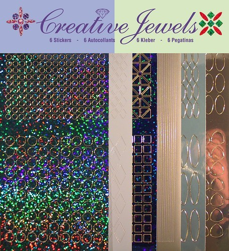 Jeje: Creative Jewels Stickerpakket; Blauw tint
