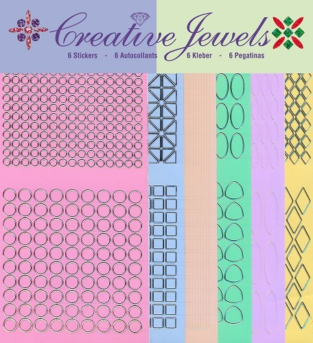 Jeje: Creative Jewels Stickerpakket; Pastel