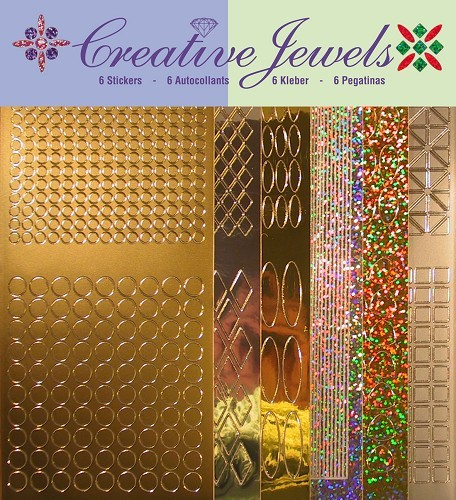 Jeje: Creative Jewels Stickerpakket; Goud-Zilver