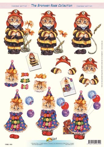 Bronwen Ross: Cats, Fireman, Clown