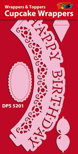 Doodey: Cupcake Wrappers: Happy Birthday