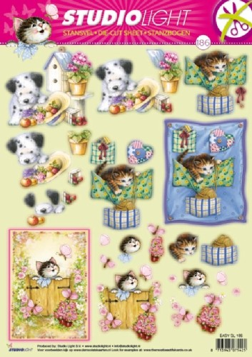 SL: Die Cut Sheet; Cats & Dog