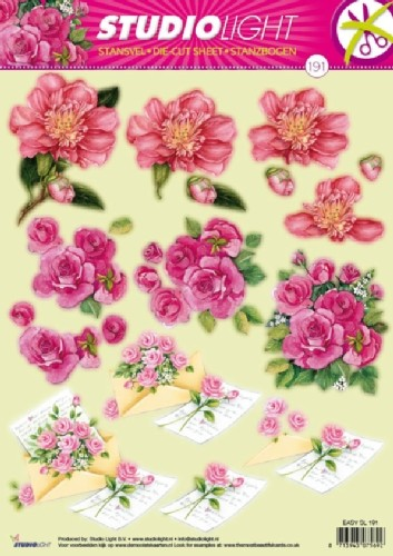 SL: Die Cut Sheet; Flowers