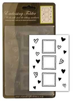 CCC: Embossing Folder; Trio Hearts