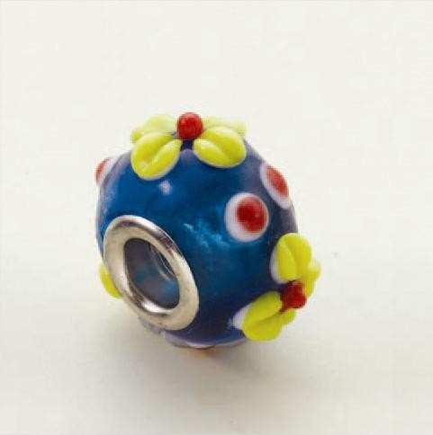 H&C: Luneabeads; Blue Flower