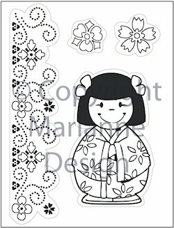 MD: Clear Stamp; Eline`s Folklore, Oriental Doll