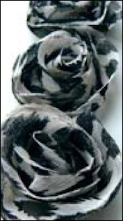 MD: Flower Ribbons; Ivory-Black-Grey