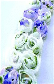 MD: Flower Ribbons; White-Purple-Green