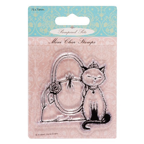 75 x 75mm mini clear stamps - pampered pets (princess)