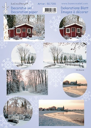 Leane: Decoratievel; Winterphoto