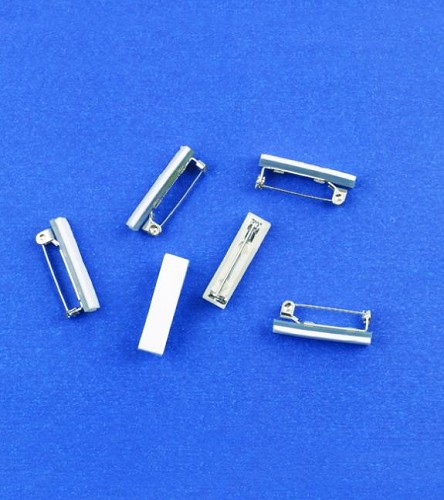 H&C: Brooch Pins with Adhesive foam; 25 mm Platinum
