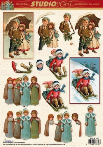 SL: Christmas Vintage; Girl & Boy in the Snow