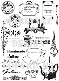 MD: Clear Stamp; Tea Time