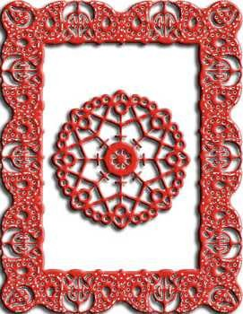 CLD: Doily mal Celtic Fire Rectangle