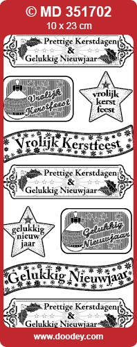 Doodey: MD; Diverse tekstlabels, Kerstfeest