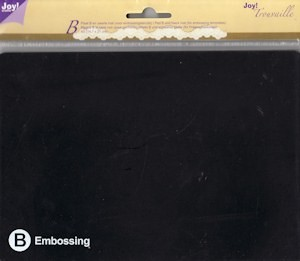 Joy! Trouvaille A5 embossing plaat B + mat