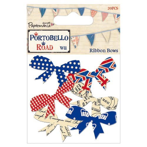 Papermania: Ribbon Bows; Union Jack